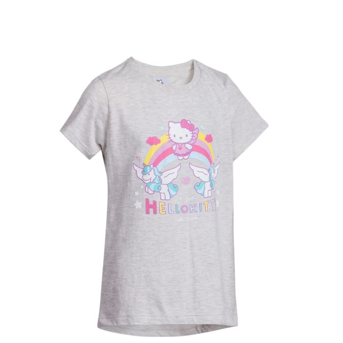 HELLO-KITTY-T-SHIRT-UNICORN-RAINBOW-GRIS
