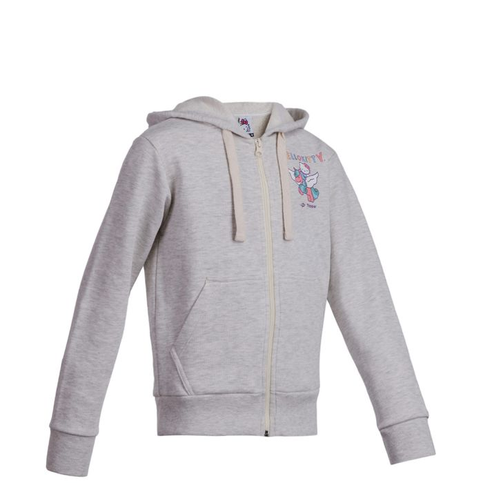 HELLO-KITTY-FULLZIP-UNICORN-GRIS-MLGE-LC